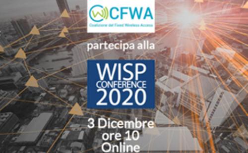 CFWA alla WISP CONFERENCE 2020: Banda Ultralarga e Digital Divide